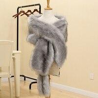 MIARA.L Korean style extended shawl faux fur coat collar fur scarf imitation raccoon fox fur fake collar women for wholesale