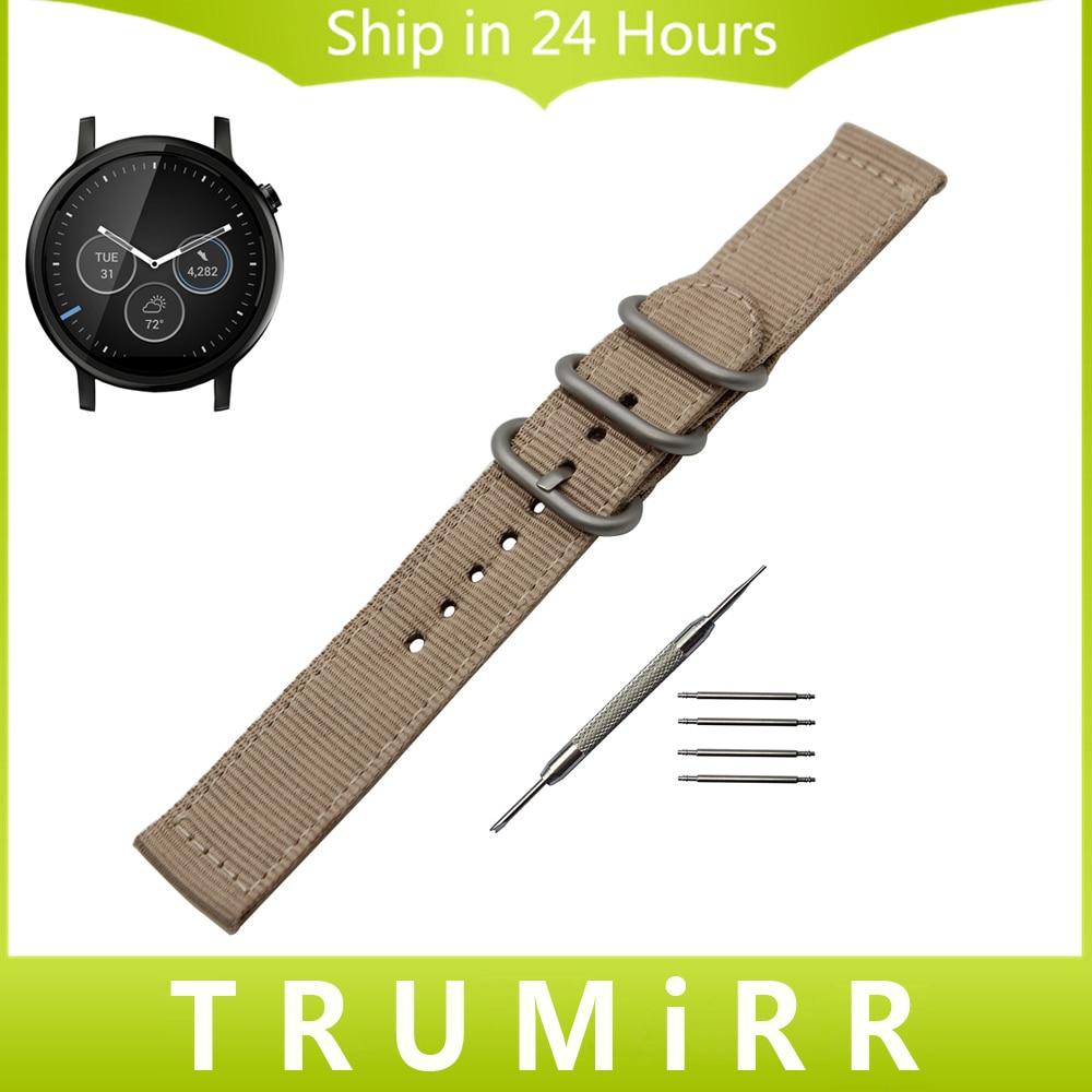 22mm Nylon Watchband Zulu Strap + Tool for Moto 360 2 46mm Men Samsung Gear 2 R380 R381 R382 Fabric Wrist Belt Bracelet 6 Colors смарт часы samsung gear s2 black