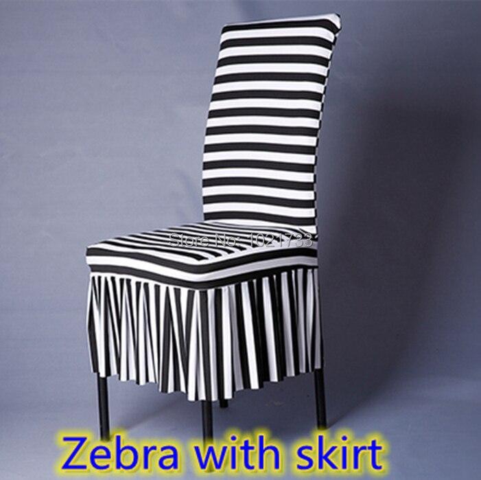 stripe chair covers zebra print black white striped printing lycra spandex stretch banquet chair cover for - Black And White Striped Chair