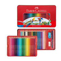 Faber Castell 72 color water soluble lead color 60 color watercolor pencil red box set