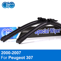 QEEPEI Auto Car Windshield Wiper Blades For Peugeot 307 2000 2004 28 26 R Rubber Strip