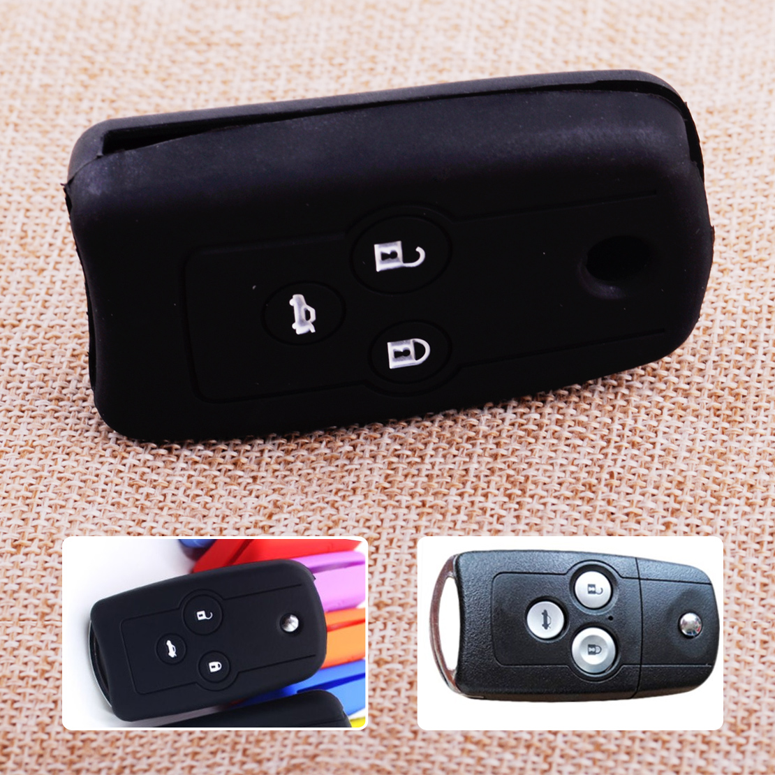 Cheap Acura Tl For Sale: Aliexpress.com : Buy CITALL Black 3 Buttons Silicone Flip