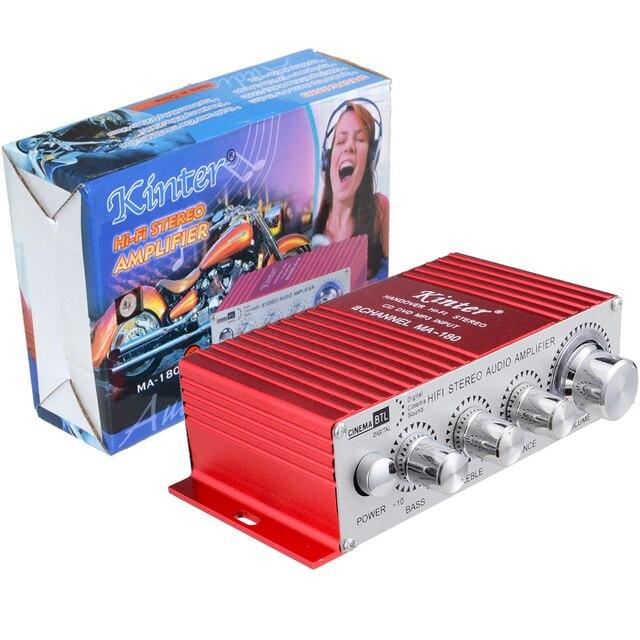 Cheap 2 Channel Stereo MA-180 Car Power Amplifier  Mini Home Audio Digital 2 Channel BTL AMP Hifi RMS 10W Free Shpping 10000286