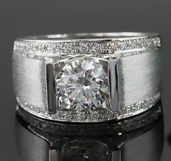 1 Carat Sterling złoto 585 okrągły Brilliant wspaniałe syntetyczne diamenty pierścionek zaręczynowy najlepsze zaproponować czystego złota Party prezent dla dziewczyny