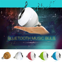 WJ L2 6W E27 B22 RGB LED Light Bulb Bluetooth Speaker Stereo Audio Phone APP Remote