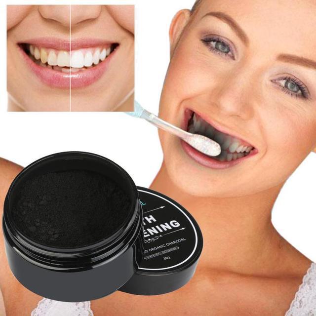 30g Teeth Whitening Powder Natural Organic Activated Charcoal Bamboo