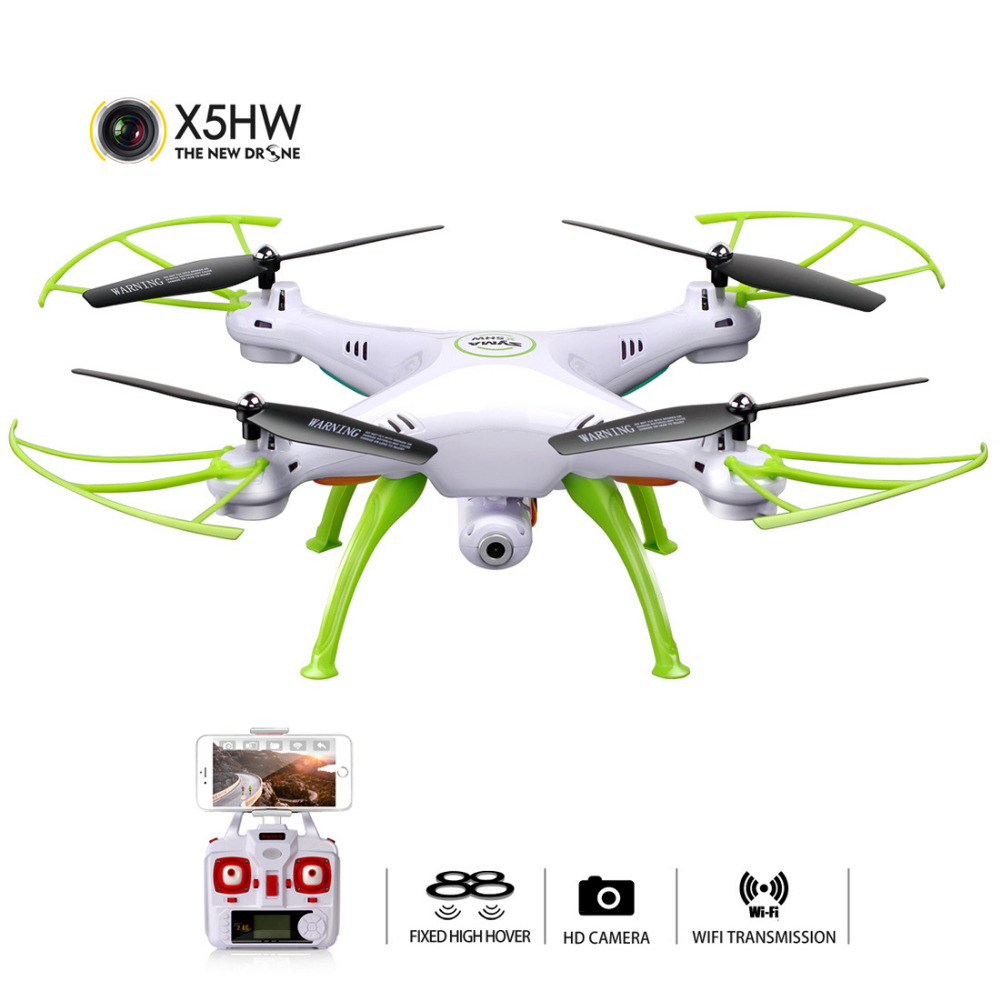 SYMA X5HW Selfie RC Drone With Camera Wifi FPV Transmission RC Quadcopter Helicopter Remote Controll Dron Toys For Children Boys-in RC Helicopters from Toys & Hobbies