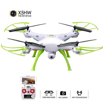 SYMA X5HW Selfie RC Drone With Camera Wifi FPV Transmission RC Quadcopter Helicopter Remote Controll Dron Toys For Children Boys