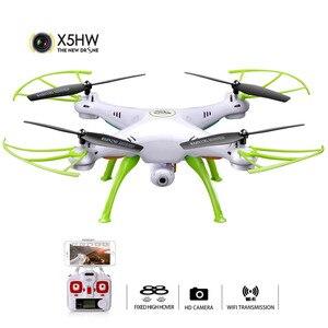Image 1 - SYMA X5HW Selfie RC Drone con cámara Wifi FPV transmisión RC Quadcopter helicóptero control remoto Dron juguetes para niños