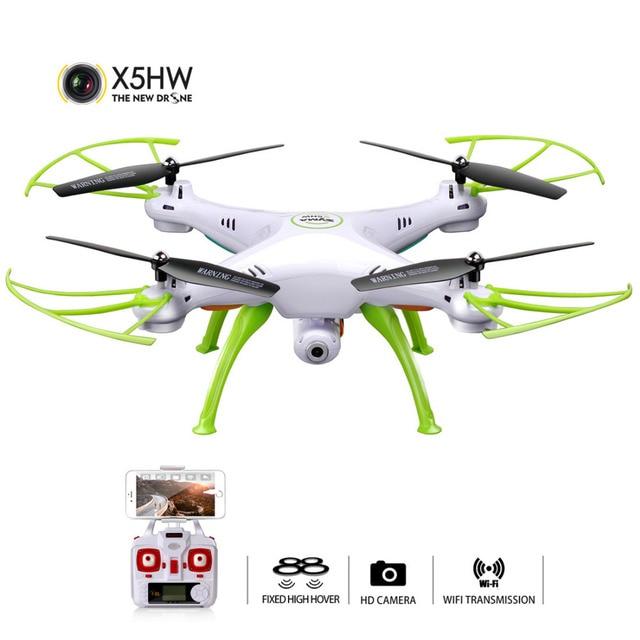 SYMA X5HW Selfie RC Drone con cámara Wifi FPV transmisión RC Quadcopter helicóptero control remoto Dron juguetes para niños
