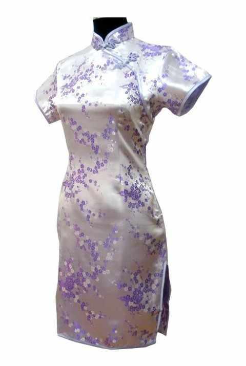 新スタイル黒女性シルクイブニングドレスジャカードのチャイナトップクラシックショート袍オーバーサイズ SML XL XXL XXXL 4XL 5XL 6XL L01-C