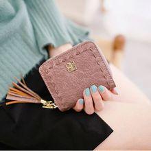 10ca97317 Nova Chegada fio trançado borlas zipper carteira bolsa da moeda da  embreagem das mulheres Do Vintage