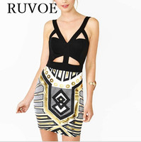 Latest High Quality Old Egyptian Spaghetti Strap Sexy Summer Dresses Women Summer Style Cut Outbandage Dress