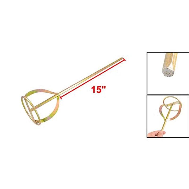 15 Zoll Länge Hexagon Welle Gips Hand Malen Mixer Werkzeug Mischen Paddle Schneebesen Stirer