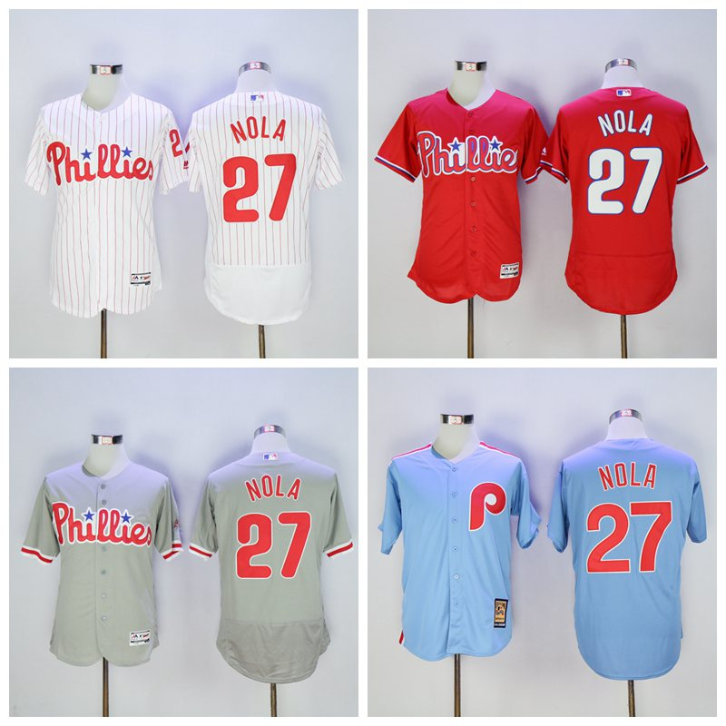 MLB Mens Philadelphia Phillies Aaron Nola Flex base jersey