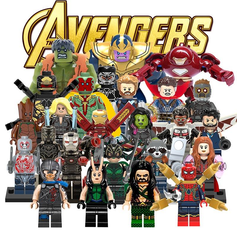 Avengers 3 Unendlichkeit Krieg LegoINGlys Marvel DC Super Hero Thanos Bausteine Kompatibel mit LegoINGly Batmam Spielzeug für Kinder