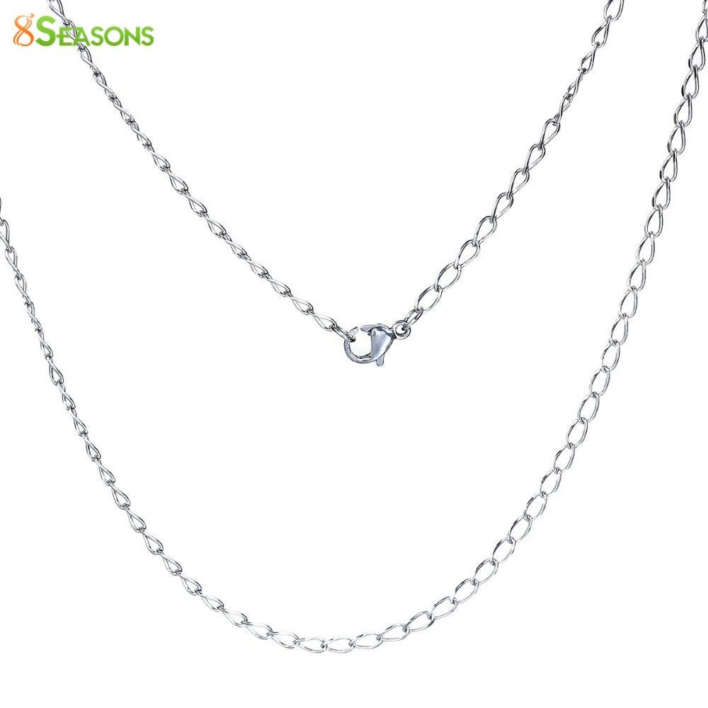 Cadenas de acero inoxidable remolques espiral con 2 mm genuina-cuero cadena cadena 50 cm