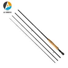 AI-SHOUYU Fly Fishing Rod 2.4M 2.7M 4 Section Fishing Rod Line wt 3/4 5/6 7/8 Soft Cork Handle Fishing Rod for Carp Pesca fly fishing combo 5wt 9ft carbon fiber fly rod