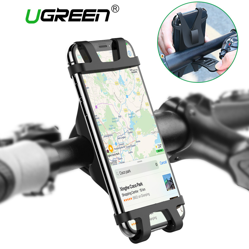 Ugreen Bicycle Phone Holder for iPhone 8 X 7 6 6s 5 Mobile Phone Holder Stand Bike Handlebar Mount GPS Bracket Bike Phone Holder