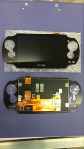 Image 1 - Black Color Original lcd for ps vita 1000 psvita psv 1000 lcd display with touch screen without Frame
