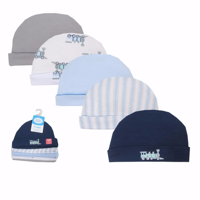 5pcslot Baby Hats PinkBlue Cartoon Pattern Baby Hats & Caps for Newborn Baby Accessories (2)