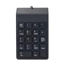 USB цифровая клавиатура, USB 18 ключ номер цифровые клавиши клавиатуры для ноутбука Настольный компьютер-черный