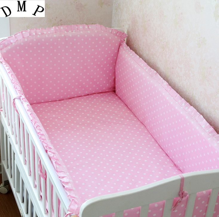 Promotion! 6PCS 100% cotton baby crib bedding set curtain crib bumper baby cot sets baby bed set (bumpers+sheet+pillow cover) promotion 6pcs crib bumper for baby cot sets baby bedding set curtain baby bed bumper include bumpers sheet pillow cover