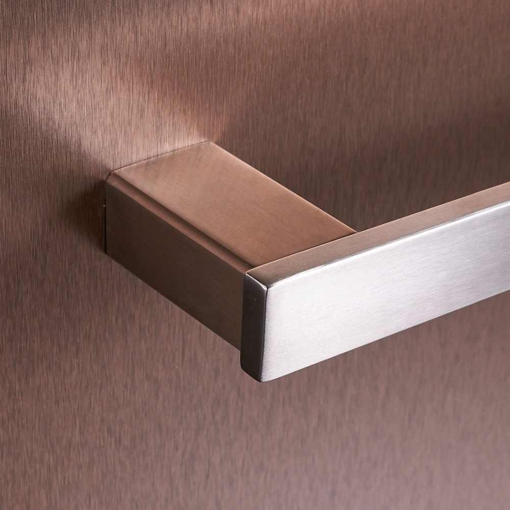 MTTUZK níquel cepillado SUS304 Barra de toalla de acero inoxidable, gancho de Bata, soporte de papel juego de accesorios de baño