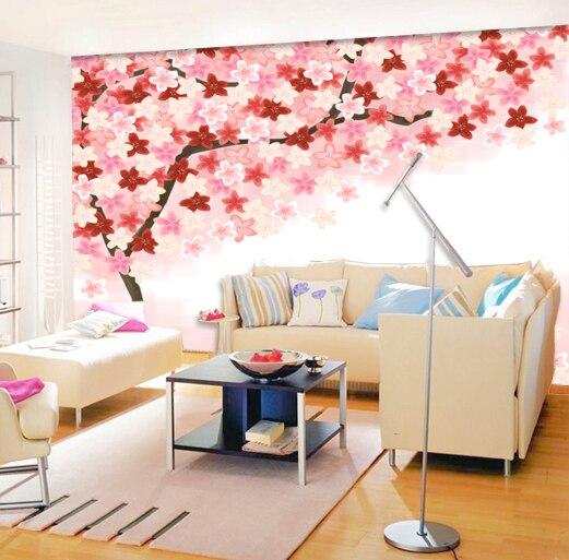 Rose fleur papier peint promotion achetez des rose fleur for Papel tapiz estilo mural
