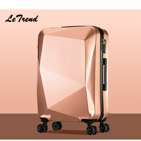 Letrend Unique Design Women Suitcases Wheel Trolley Rolling Luggage Spinner Travel Bag Carry On Luggage Password