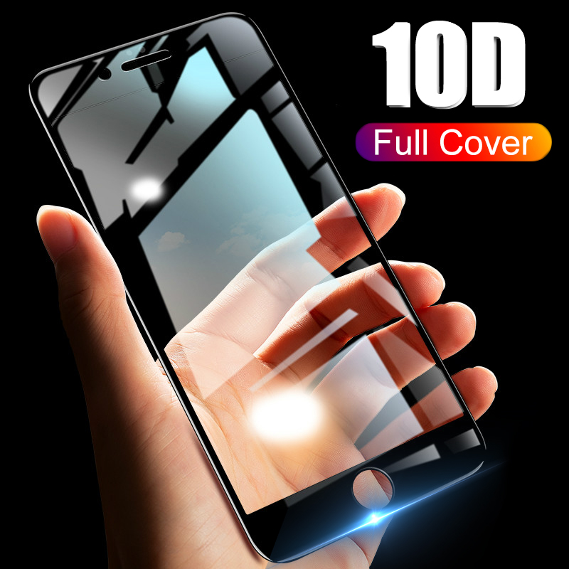 10D Protective Glass On The For Iphone 11 Pro SE 10 7 8 6 6s Plus Screenprotector Armor Aiphone 7 6plus 6 S Tempered Tremp Films