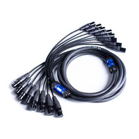 High quality 50FT 8 Channel 3 Pin XLR Snake Cable Male to Female Extension Audio Cord M/F