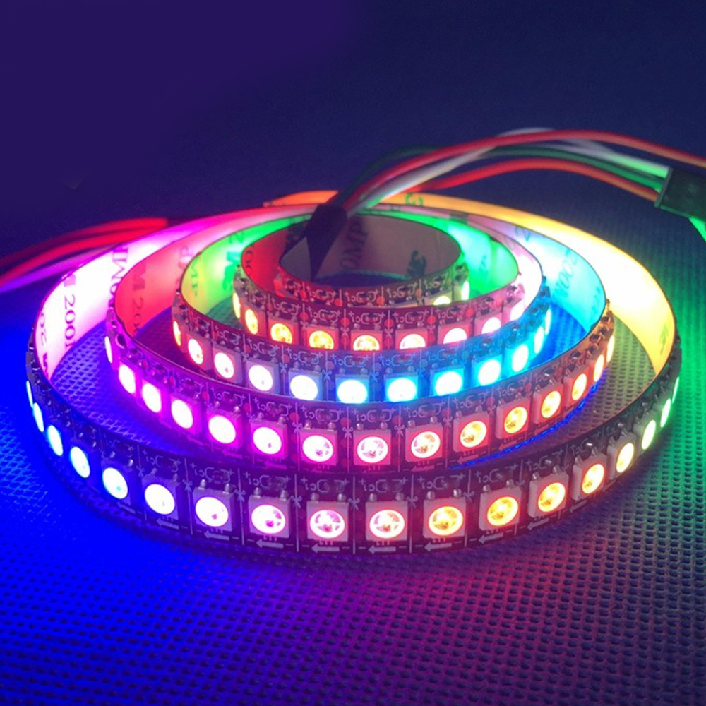 dc5v 1m 4m 5m ws2812b ws2812 led strip smart rgb 5050 full color pixel ic ditigal individually. Black Bedroom Furniture Sets. Home Design Ideas