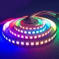 Dc5v 1 m / 4 m / 5 m ws2812b WS2812 LED Strip inteligente RGB 5050 cor cheia de pixels IC Ditigal individualmente endereçável à prova d ' água luz fita