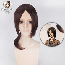 2019 Hot Sale Attack on Titan Ymir Cosplay Wigs for Women Medium Long Brown Synthetic Hair Wig Christmas Gift Anime Party цена