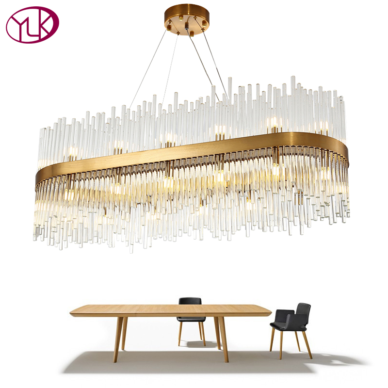 Youlaike Modern Dining Room Chandelier Lighting Creative Design Home Decoration Crystal Light Luxury Gold LED Cristal