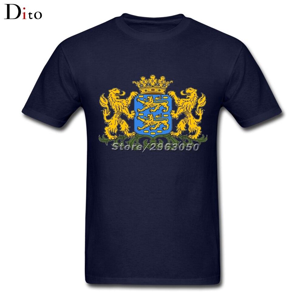 Frisian Coat of Arms T-shirt Men Digital Direct Printing Custom Short Sleeve Boyfriends Plus Size Mens Tshirts