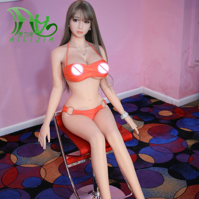 158cm real silicone with metal skeleton sex doll Lifelike Size of life love doll  sex toy pussy sex products