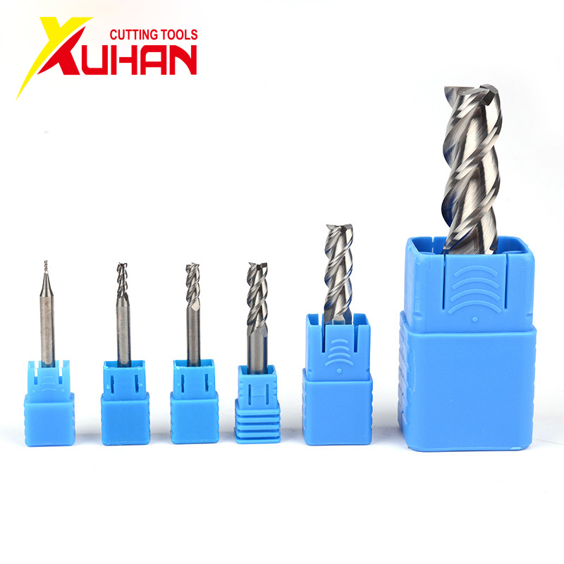 Aluminum Milling Cutter Endmills  3 Flute HRC50 Solid Carbide End Mill Tungsten Steel Cnc Milling Cutter Endmill Milling Tools