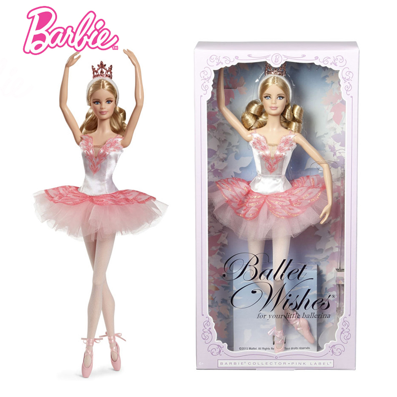 Original Barbie Doll Brand Collectible Doll Ballet wish Barbie Doll Toy Girl Birthday Present Girl Toys Gift Bonecbrinquedos цена
