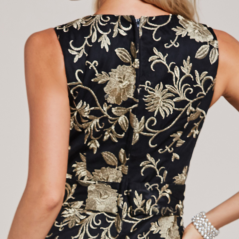 Tanpell κεντήματα βράδυ μαύρη δαντέλα - Ειδικές φορέματα περίπτωσης - Φωτογραφία 5