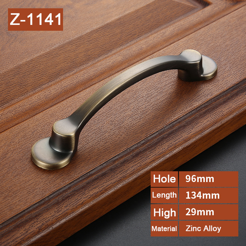 American style simple zinc  handles for   furniture Drawer Cabinet Kitchen Pull Handles Knobs Handle Wardrobe     Z-1141 antique european furniture handles cabinet handle door drawer circular copper