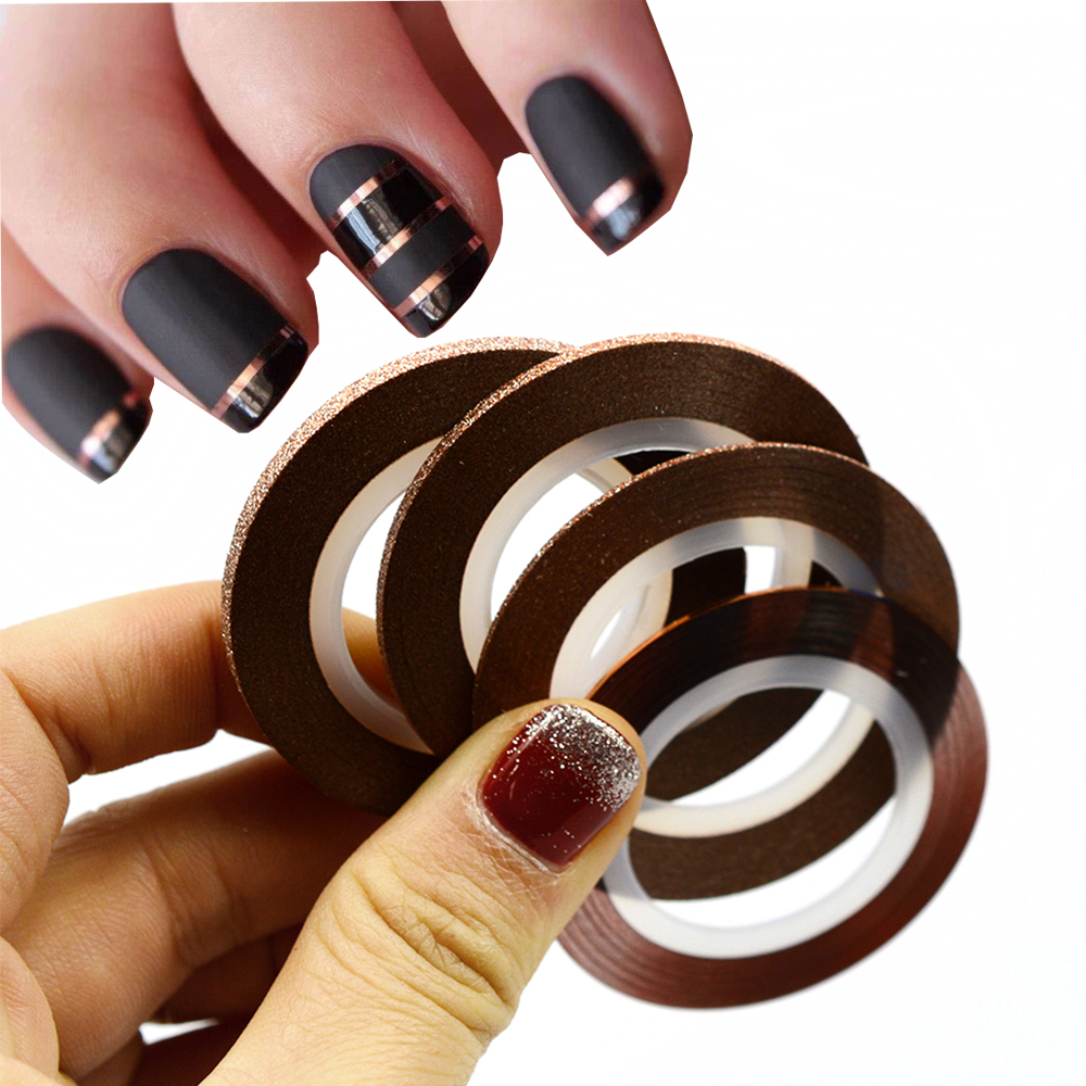 Aliexpress 4rolls Set 1 3mm Striping Tape Line Nail Art Tips Decoration Sticker Mixed Colors Rolls Diy Sand299 From