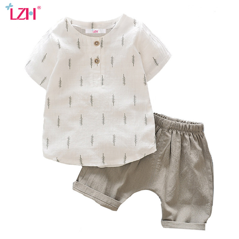 LZH 2017 Children's Clothing Summer Kids Boys Clothes Casual T-shirt + Shorts Sports Suit Baby Boy Outfits Baby Boy Clothes Sets