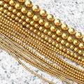 """Wholesale 2-12mm Gold Plated Hematite Round Loose Beads 15"""",For DIY Jewelry Making !We provide mixed wholesale for all items!"""