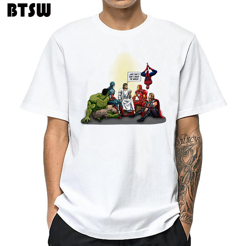 Men Avengers 4 T Shirt Ous Infinity War End Game New Arrival How I Saved The World-jesus Streetwear Hombre Arya Stark Tops