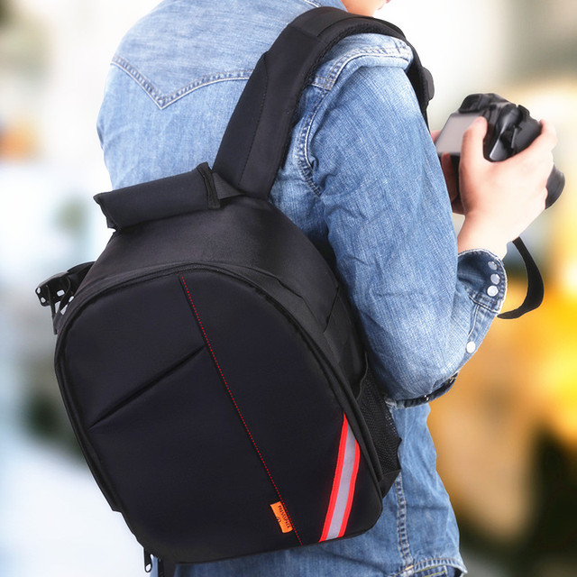 Roadfisher Small Light Waterproof Professional DSLR SLR Camera Backpack  Travel Rucksack Bag Insert Case For Canon Nikon Sony