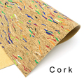 Cork fabric 65*50cm/25.5*19.6inch colorful Natural cork leather natural Material Kork Cor-53