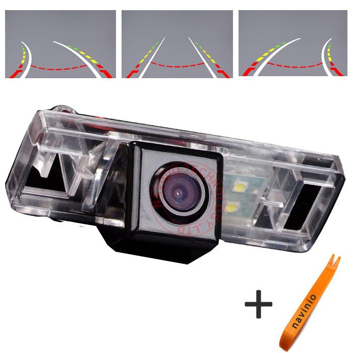 Trajectoire d'inversion de caméra de voie de voiture CCD pour Nissan Sunny/Pahfinder/Citron/Qashqai/x-trail imperméable NTSC PAL (facultatif)