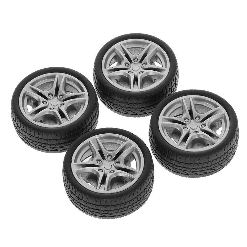 2019 Top Selling 4pcs 48mm Simulation Rubber Wheel Tire Wheel Toy Model DIY RC Spare Parts